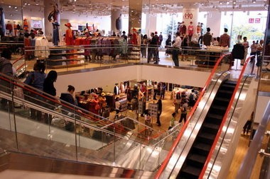 A file photo of Uniqlo at Garden State Plaza in Paramus. The mall started work to replace a parking deck, Jan. 7, 2013.