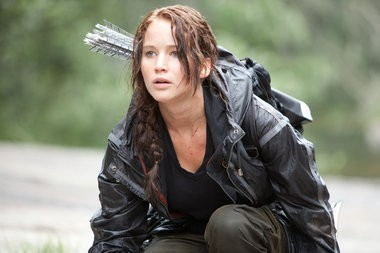 "A production still from the first ""Hunger Games"" film."