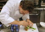 Chef Thomas Ciszak prepares a plate of cordon bleu of sweetbreads. Ciszak was named one of the best chefs in America.