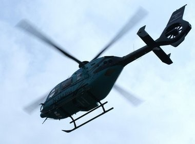 An employee at a Ramsey manufacturing plant had to be airlifted to the hospital after getting caught in a metal lathe Friday afternoon, police said.
