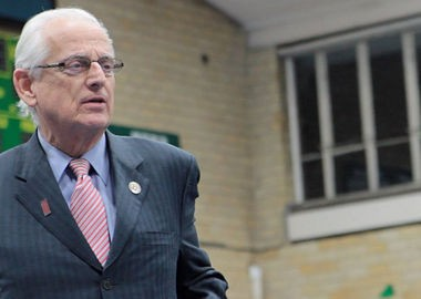"""""""I am sick and tired of Governor Christie blaming all of his problems on the federal government,"""" U.S. Rep. Bill Pascrell said today. The congressman is shown visiting a synagogue in this file photo."""