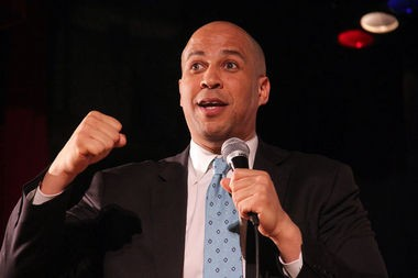 Newark Mayor Cory Booker is shown in this file photo. WBGO has canceled his monthly radio show because of equal time concerns.