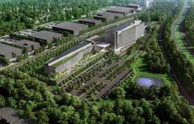 A rendering of LG's planned new headquarters in Englewood Cliffs.