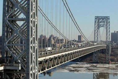 A man jumped to his death from the George Washington Bridge May 13, 2015, officials said.