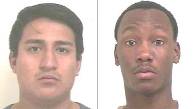 Left: Christian Lopez, 24, of Secaucus. Right: Nakeem Gardner, 18, of Paterson. (Photo courtesy of Bergen County Prosecutor's Office)
