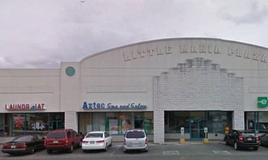A Range Rover hit a parked car at the Little Maria Plaza, sending both vehicles into a laundromat at the shopping complex March 28, 2015, police said.