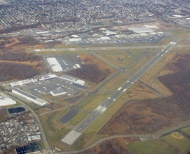 Two NYD officers allegedly had sex with a prostitute on a private plane that left from Teterboro Airport, according to a report.