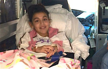Juliana Valdez recovers after the accident at Macy's. (File photo)