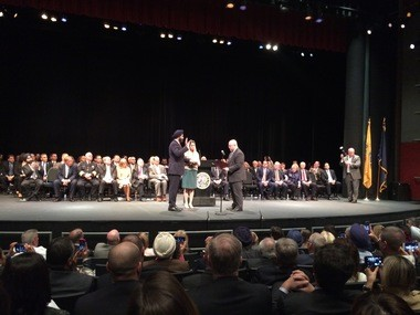 Acting Bergen County Prosecutor Gurbir Grewal was officially sworn in as Prosecutor in a ceremony Thursday at Bergen County Community College.