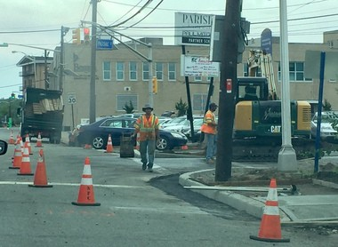 Construction is underway to make streets in Hackensack two-way.