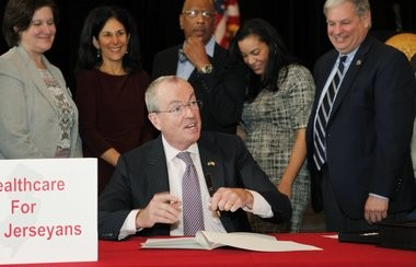 Gov. Phil Murphy signed his fourth executive order at Mount Olive Baptist Church in Hackensack. The order concerns healthcare. Following the signing, Murphy attended a Sunday service at the church.