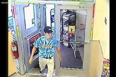 The man pictured above swiped $380 in cigarettes from a Wawa on Route 38 in Mount Laurel last week, police allege.