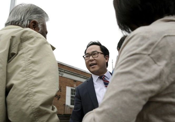 Democrat Andy Kim continues to lead in the 3rd District over incumbent Rep. Tom MacArthur, R-3. AP
