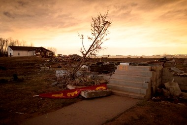 The remnants of a Union Beach home devastated by Hurricane Sandy.