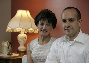 Diane Bryski poses for portrait with son Ryan Bryski at home in Marlton, New Jersey, June 27, 2010. The Bryski family is fighting to pass legislation that would change the way millions of student loans are handled.