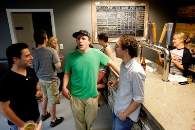 The tap room at Kane Brewing Co., where visitors can sample some of its brews.