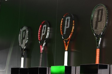 A selection of racquets from Prince's fall 2013 collection.