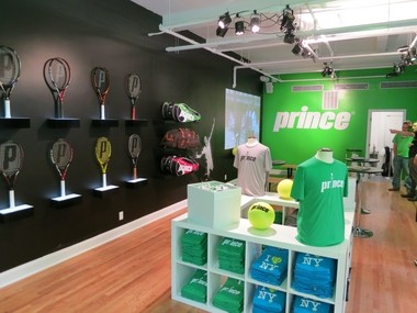 A pop-up store Prince operated in midtown Manhattan during the 2013 U.S. Open.