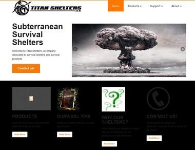 A screen shot from TitanShelters.com, a new business registered to Al Demola.