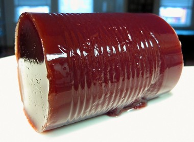 """Canned cranberry sauce, sometimes referred to in food circles as """"the log,"""" makes up 75 percent of all cranberry sauce sales. Courtesy of wired.com"""