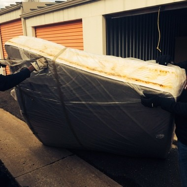 One of the mattresses Scott Packwood said was damaged by water that came into his Public Storage unit.