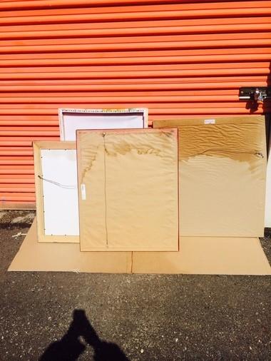 Artwork that Scott Packwood said was damaged when water got into his Public Storage unit.