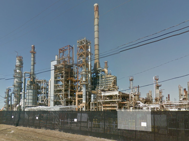 A street view of an oil refinery outside New Orleans that Parsippany-based PBF Energy bought for $322 million.