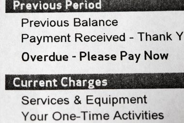 Part of the bill says charges were overdue. Those were charges for a phone line that was cancelled, the customer said.