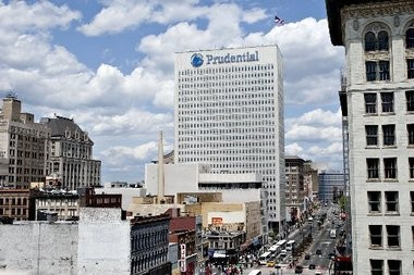 Prudential Financial's headquarters, located a few blocks from its new building. (Steve Hockstein | Bloomberg)