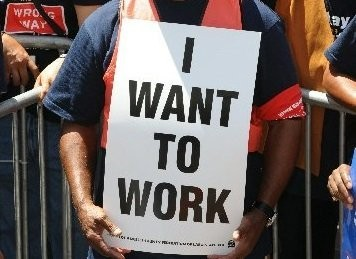 An economist says high unemployment is responsible for falling wages because it forces workers to settle for lower pay.