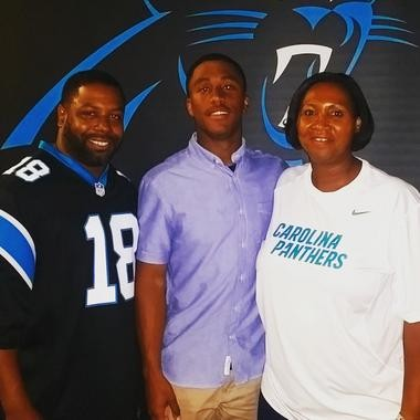 Damiere Byrd, 23 of Gloucester Township, will be with the Carolina Panthers at Super Bowl 50 Sunday, Feb. 7, 2016, as a member of the practice squad.