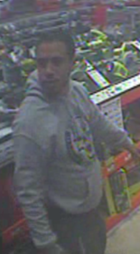 Police are searching for information on this man who is wanted for attempting to rob a Home Depot and leaving a female employee unconscious. (Photo Provided)