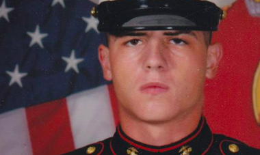 Lance James, 29, in this U.S. Marine Corps photo. James has been missing since Dec. 2, 2016 and family are offering a reward for information on his whereabouts.
