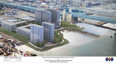 Waterfront Renaissance Associates did a study in 2013 about building a Greater Philadelphia World Trade Center on the former prison site, but nothing ever came of it.