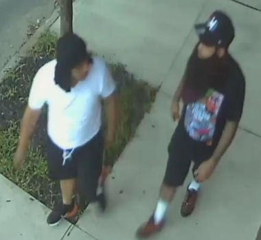 The Camden County Prosecutor's Office is seeking the public's help in identifying these two men, who may have information about the shooting of two Camden detectives on Aug. 7.