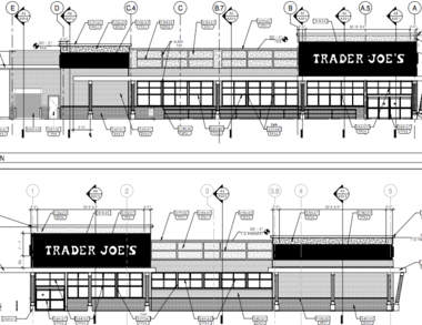 Rendering of a new Trader Joe's discount grocer coming to Cherry Hill.