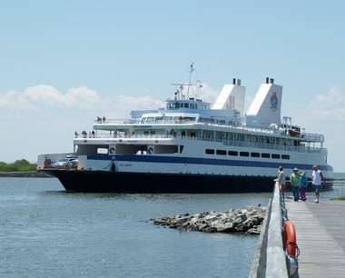 The Cape May-Lewes Ferry's MV Delaware is seen arriving at the North Cape May terminal in this file photo. The vessel has been returned to service after emergency repairs to one of its engines. (Delaware River and Bay Authority)