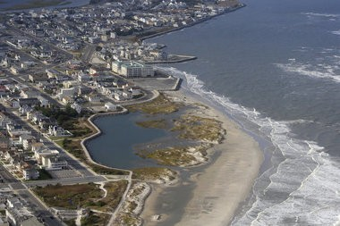 Aerial view of North Wildwood in Cape May County on November 15, 2015.