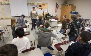 FILE PHOTO: A Grice Middle School classroom in the Hamilton School District