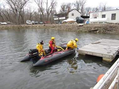 Hamilton firefighters recovered a body from the Delaware River near Duck Island this afternoon.