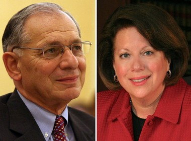 Former Sen. Peter Inverso, a Republican, right, is running against incumbent Sen. Linda Greenstein, a Democrat, in what is expected to be hotly contested race in the 14th Legislative District this fall.