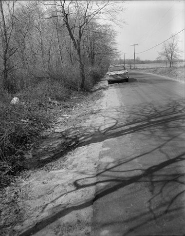 This undated photo shows the section of Porter Road in Bear, Delaware where the body of a young woman was found on March 18, 1967. The woman remains unidentified to this day. Authorities are hoping they will find clues leading to the woman's identity through a bag from a Trenton laundry that partially contained her body