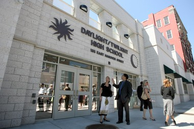 A file photo of the grand opening of the Daylight/Twilight High School in Trenton; Thursday June 12, 2008.