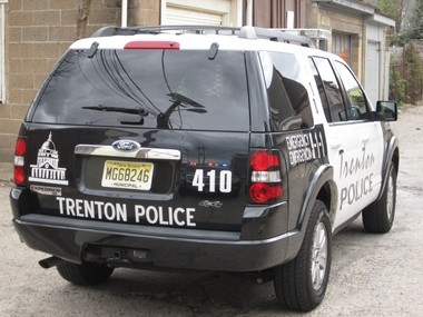 A Trenton police SUV is seen at a crime scene in this file photo.