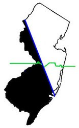 The 111-mile-long Keith Line runs from Long Beach Island to the Delaware River in Warren County. (westjersey.org)