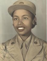 Elizabeth Johnson's Women's Army Corpse Picture from 1943. (Marvin Johnson)