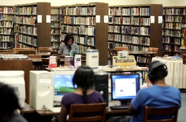 File photo of the Cadwalader Branch of the Trenton library system on Thursday, Sept. 11, 2008.