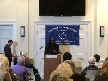 J. Jondhi Harrell speaking at the CFPA conference Sunday Nov. 8.