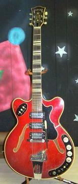 Frank Russo's 1966 Hofner guitar.