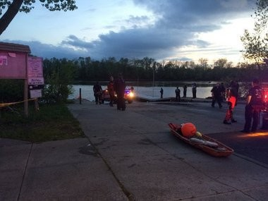 Authorities searched for a missing Trenton man in the Delaware River near the Trenton boat ramp on Saturday night. The Coast Guard announced Sunday morning it is suspending the search. (Photo by Anna Merriman | NJ Advance Media for NJ.com)